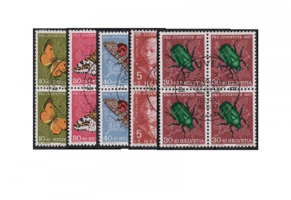 Schweiz Mi.Nr. 648/652 VB gestempelt Pro Juventute