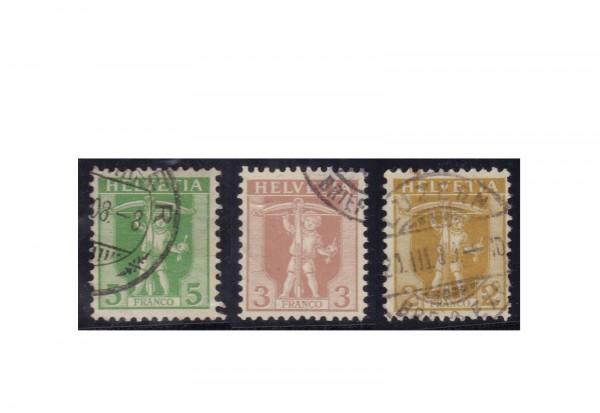Schweiz Michel-Nr. 95-97 Tellbuche 1907 gestempelt