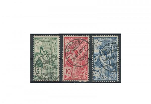 Briefmarken Schweiz UPU 1900 Michel-Nr. 71-73 gestempelt