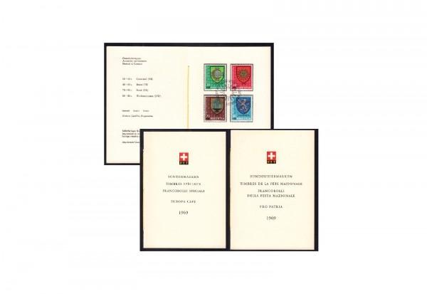 Schweiz PTT-Faltblätter - 3 verschiedene Ausgaben