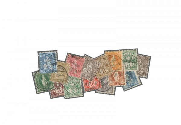 Briefmarken Alt-Schweiz gestempelt
