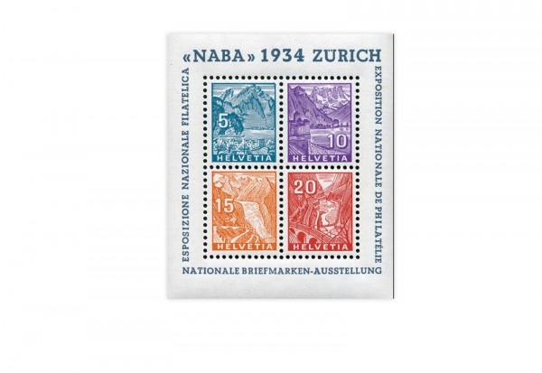 Schweiz Block 1 NABA Zürich 1934 postfrisch