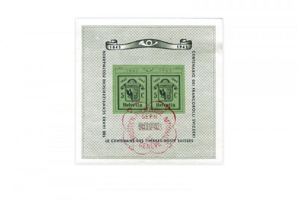 Schweiz Block 10 NABA Genf 1943 gestempelt