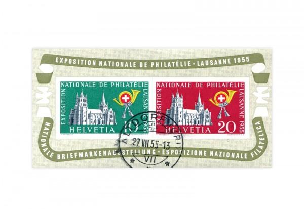 Schweiz Block 15 NABA Lausanne 1955 gestempelt
