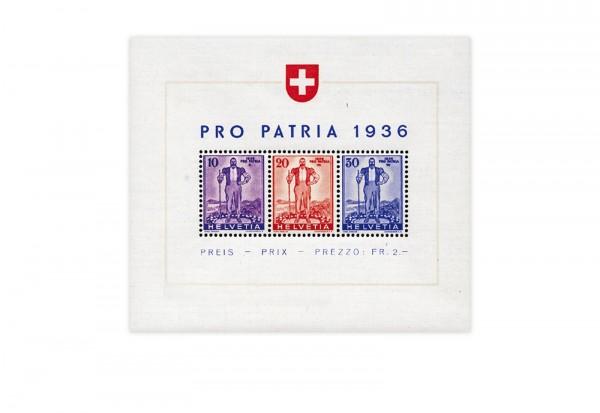 Schweiz Block 2 postfrisch Pro Patria 1936