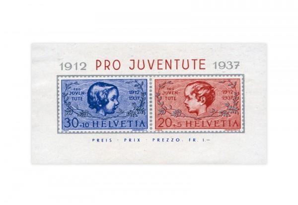 Schweiz Block 3 postfrisch Pro Juventute 1937