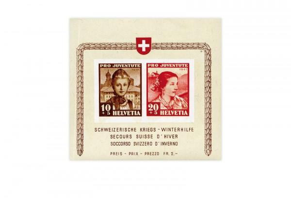 Schweiz Block 6 Pro Juventute 1941 postfrisch