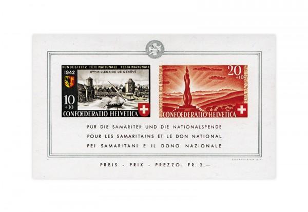 Schweiz Block 7 Pro Patria 1942 postfrisch