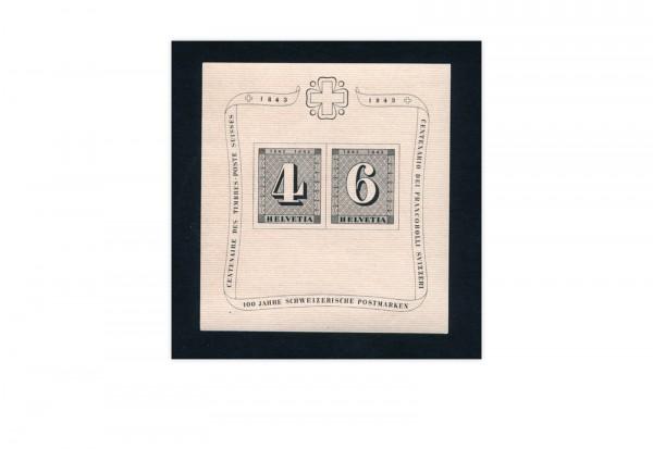 Schweiz Block 8 gestempelt 100 Jahre Schweizer Briefmarken