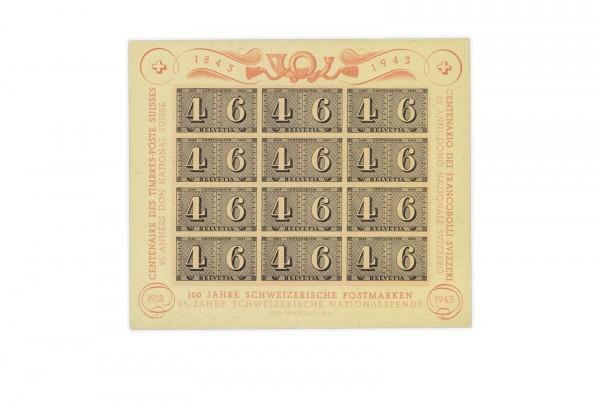 Schweiz Block 9 postfrisch 100 Jahre Schweizer Briefmarken