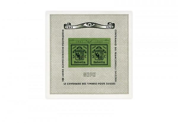 Schweiz Block 10 NABA Genf 1943 postfrisch