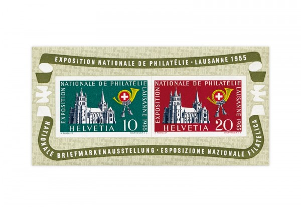 Schweiz Block 15 postfrisch NABA Lausanne 1955