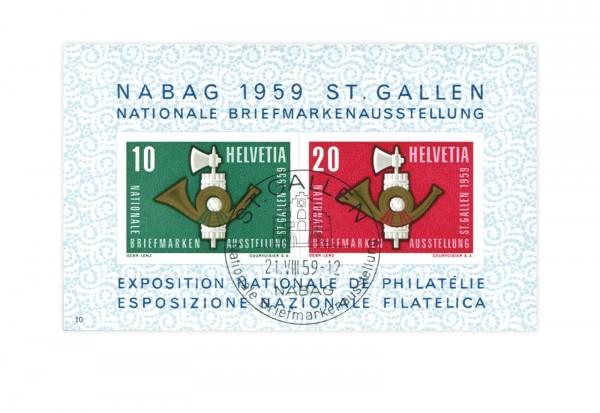 Schweiz Block 16 NABA St. Gallen 1959 gestempelt