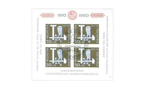 Schweiz Block 17 Pro Patria 1960 gestempelt