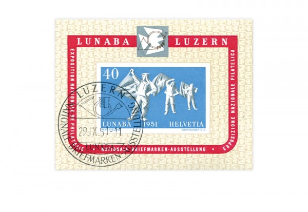 Schweiz Block 14 NABA Luzern 1951 gestempelt