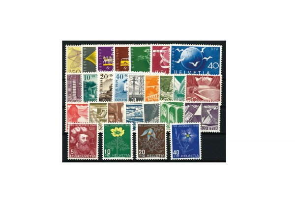 Briefmarken Schweiz Jahrgang 1949 Michel Nr. 518-544 postfrisch