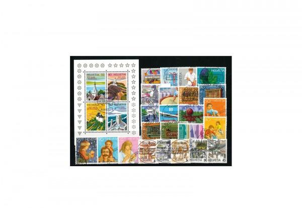 Briefmarken Schweiz 1987 Block und 25 Marken Michel-Nr. 1335 - 1363 gestempelt