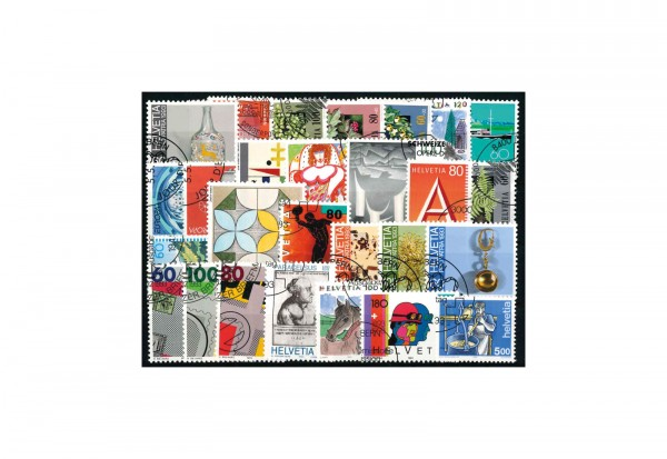 Briefmarkensatz Schweiz Jahrgang 1993 Michel Nr. 1489-1595 gestempelt