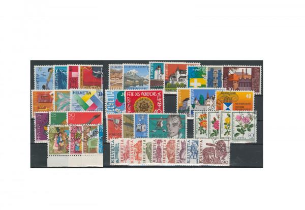 Briefmarken Jahrgangs-Wertpaket Schweiz