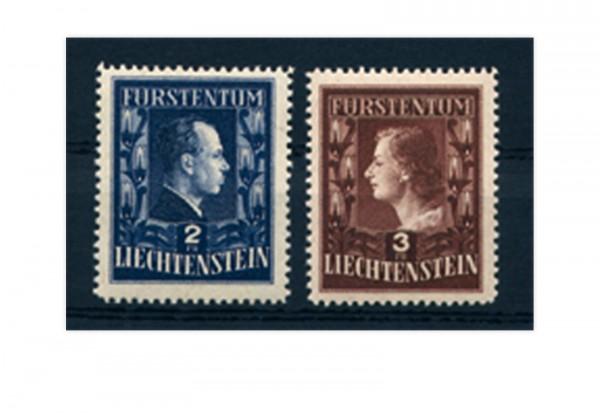 Briefmarken Liechtenstein Freimarken 1951 Michel-Nr. 304-305 A postfrisch
