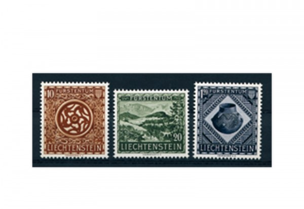 Liechenstein Frühausgaben Michel 319 / 21 postfrisch