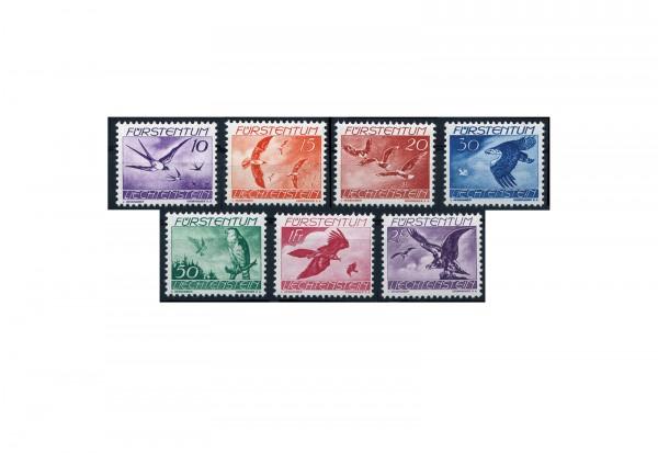 Liechtenstein Vögel 1938 Mi.Nr. 173/179 postfrisch