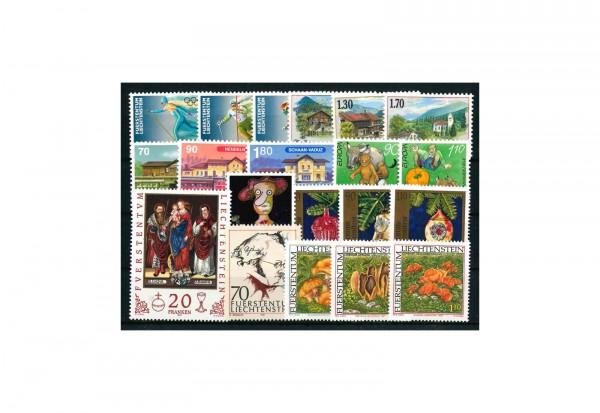 Briefmarken Liechtenstein Jahrgang 1997 postfrisch