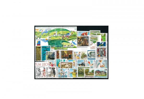 Briefmarken Liechtenstein 1999 Michel-Nr. 1190 - 1223, 1 Block postfrisch