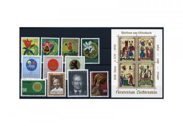 Liechtenstein Briefmarken Jahrgang 1970 postfrisch