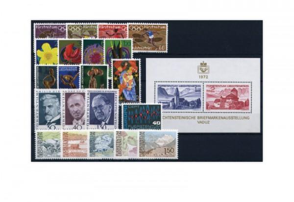 Liechtenstein Jahrgang 1972 postfrisch