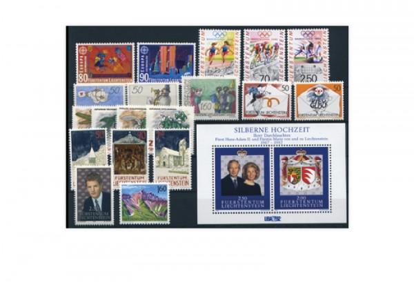 Liechtenstein Jahrgang 1992 postfrisch