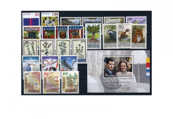 Liechtenstein Jahrgang 1993 postfrisch