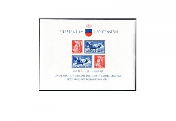 Liechtenstein Block 2 gestempelt