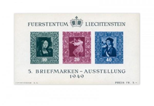 Liechtenstein Block 5 gest.