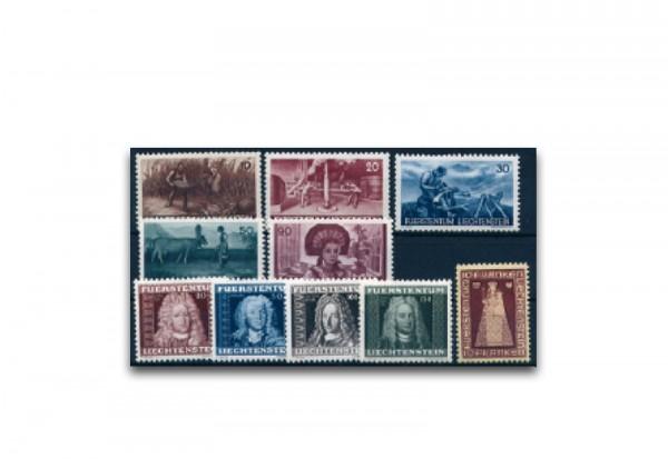 Liechtenstein Jahrgang 1941 gestempelt