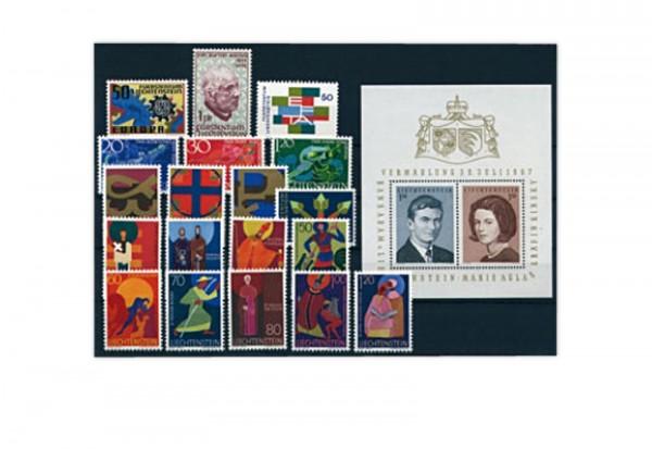 Liechtenstein Jahrgang 1967 gestempelt
