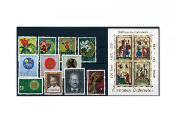 Liechtenstein Jahrgang 1970 gestempelt