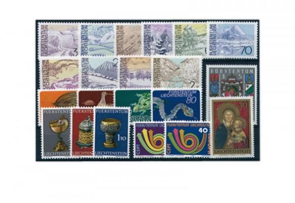 Liechtenstein Jahrgang 1973 gestempelt