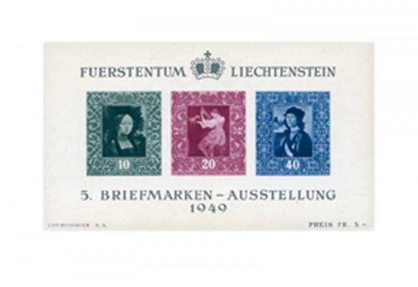 Liechtenstein Frühausgaben Block 5 postfrisch