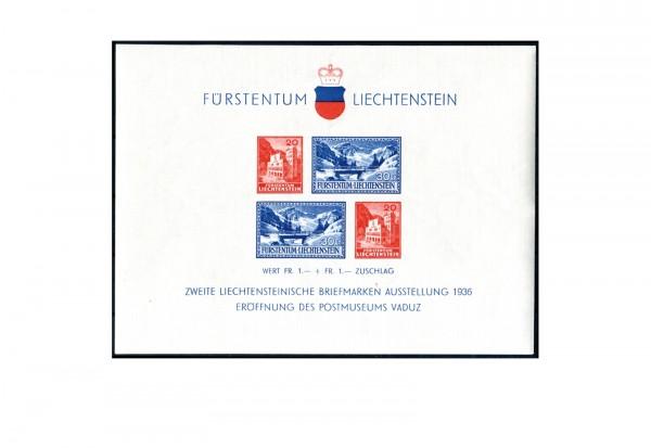 Liechtenstein Block 2 Postmuseum postfrisch