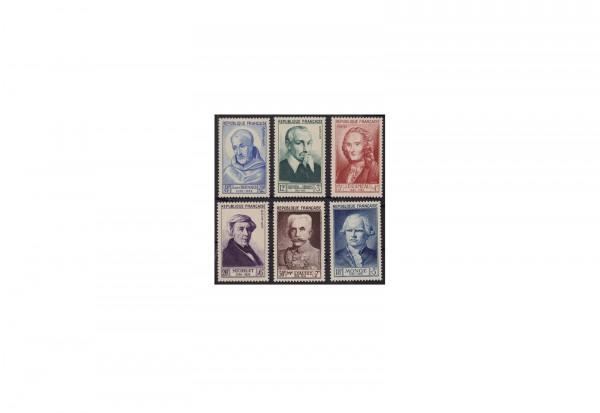 Frankreich Persönlichkeiten 1953 Michel Nr. 965 bis 970 postfrisch