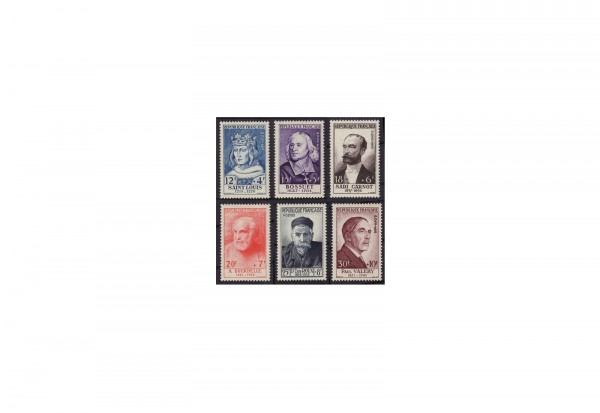 Frankreich Persönlichkeiten 1954 Michel Nr. 1015 bis 1020 postfrisch