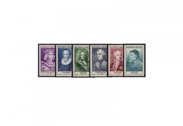 Frankreich Persönlichkeiten 1958 Michel Nr. 1053 bis 1058 postfrisch
