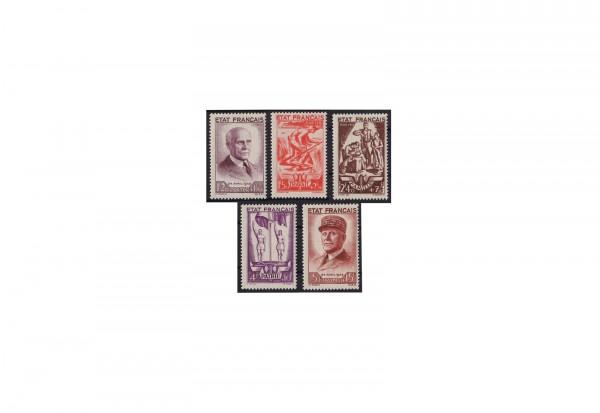 Briefmarken Frankreich Republik 1870 bis heute Michel-Nr. 589 bis 593 postfrisch