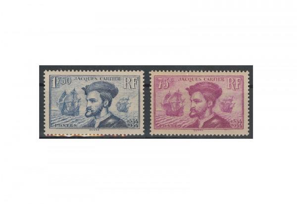 Briefmarke Frankreich 400. Jahrestag Landung in Kanada 1934 Michel-Nr. 292/93 postfrisch