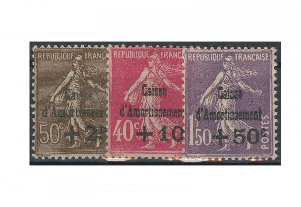 Briefmarke Frankreich Staatsschuldentilgungskasse 1931 Michel-Nr. 252/54 postfrisch