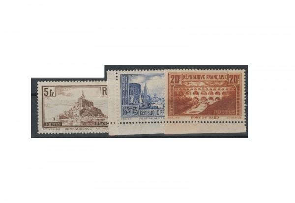 Briefmarken Frankreich Bauwerke 1929-1931 Michel-Nr. 240/42 postfrisch