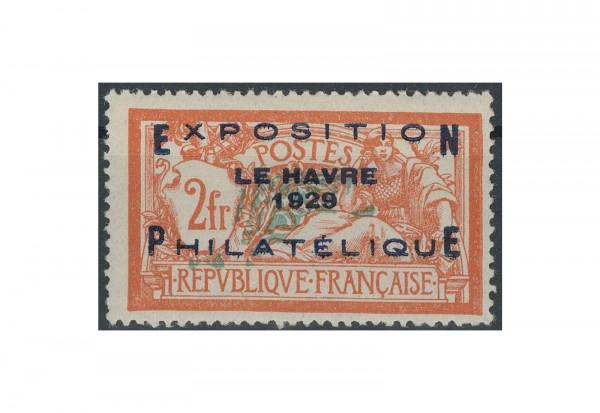 Briefmarke Frankreich Philatelistische Ausstellung in Le Havre 1929 Michel-Nr. 239 postfrisch