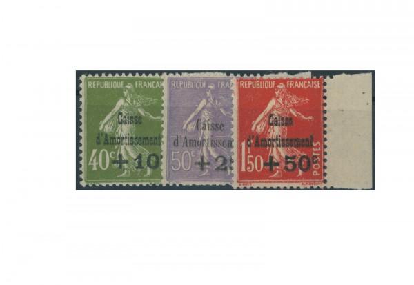 Briefmarken Frankreich Staatsschuldentilgungskasse 1931 Michel-Nr. 264/66 postfrisch