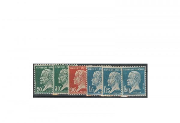 Briefmarke Frankreich Louis Pasteur 1925 Michel-Nr. 192/97 postfrisch
